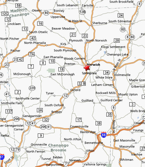 Directions to Norwich, New York, Chenango County Tax Day TEA Party on